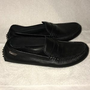 Cole Haan Black Grant Canoe Penny Loafers Size 12